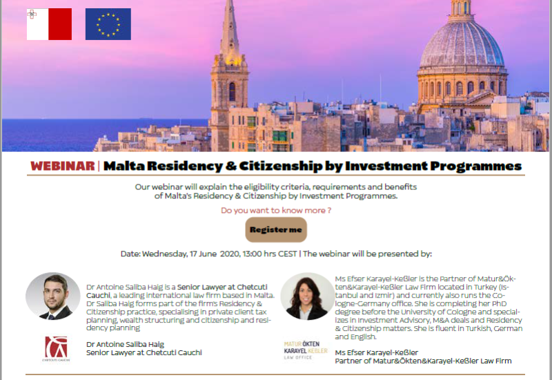 OUR SEMINAR ON RESIDENCY, CITIZENSHIP AND INVESTMENT IN MALTA